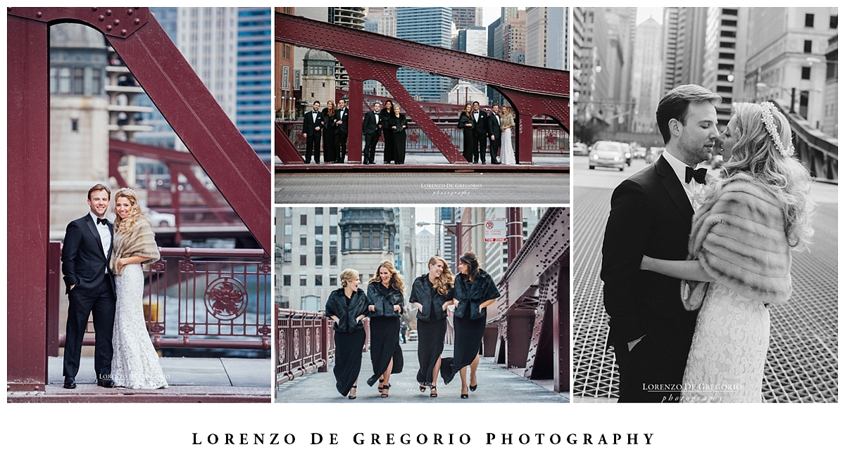 Cafe Brauer wedding | Chicago winter wedding | Chicago wedding photographer | Lasalle bridge wedding photos
