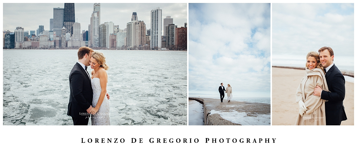 Cafe Brauer wedding | Chicago winter wedding | Chicago wedding photographer | Michigan lake wedding photos