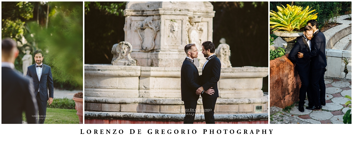 Vizcaya museum wedding photography | Florida same sex photography | Miami destination wedding photography | Lorenzo De Gregorio photography