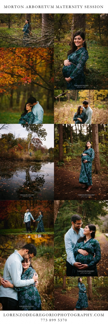 Morton Arboretum Maternity session | Chicago wedding photographer #mortonarboretum #lorenzodegregoriophotography