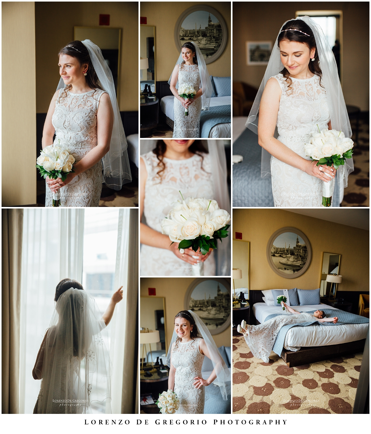 Bridal portraits at the Palomar hotel, Chicago. Hotel Palomar wedding, Chicago wedding photographer, Lorenzo De Gregorio Photography.