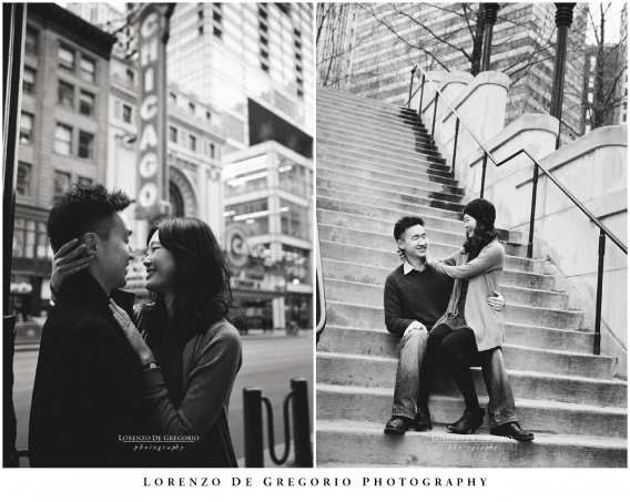 Downtown Chicago engagement pictures   Chicago engagement session   Chicago wedding photographer