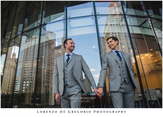Chicago same sex wedding | Hotel Palomar wedding photography | Chicago gay wedding photography