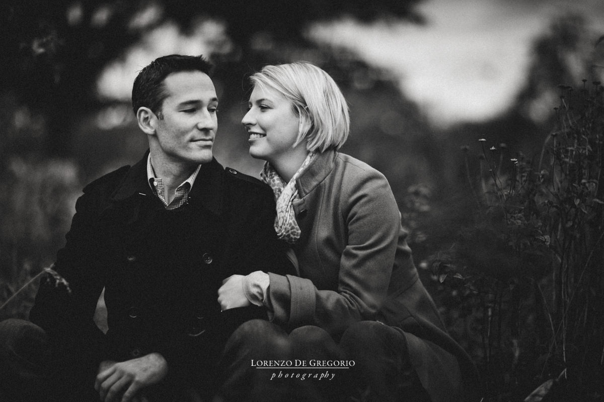 Chicago engagement photographer | Lincoln Park engagement photos | Chicago BW engagement