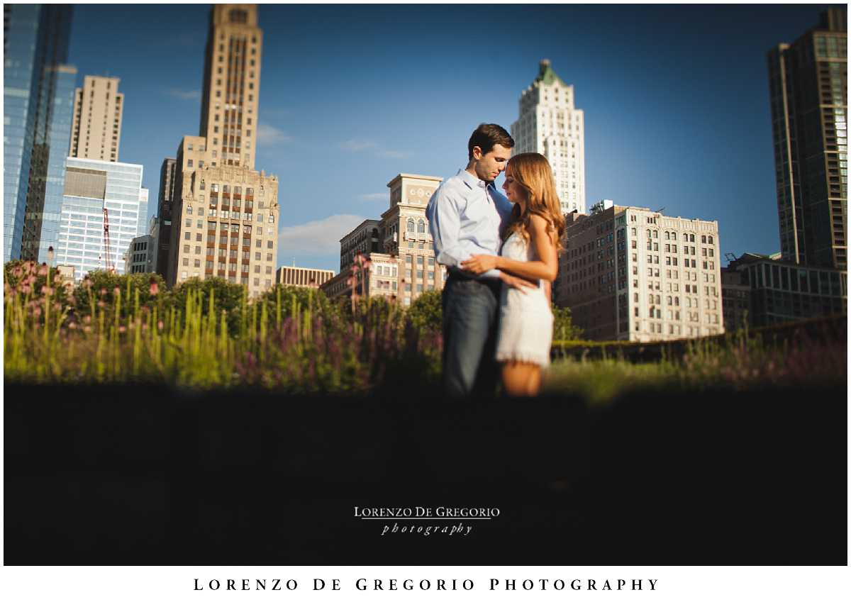 Millennium Park sunrise engagement pictures