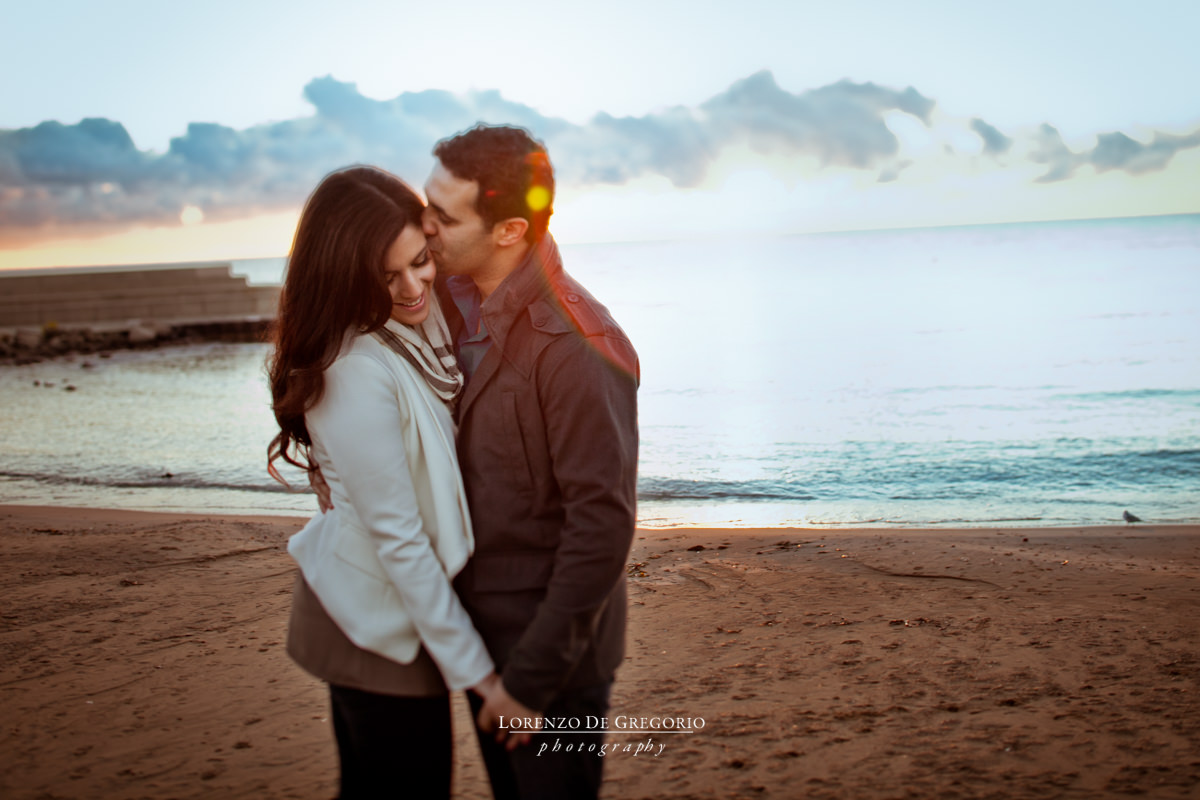 Sunrise engagement photos Chicago Field Museum