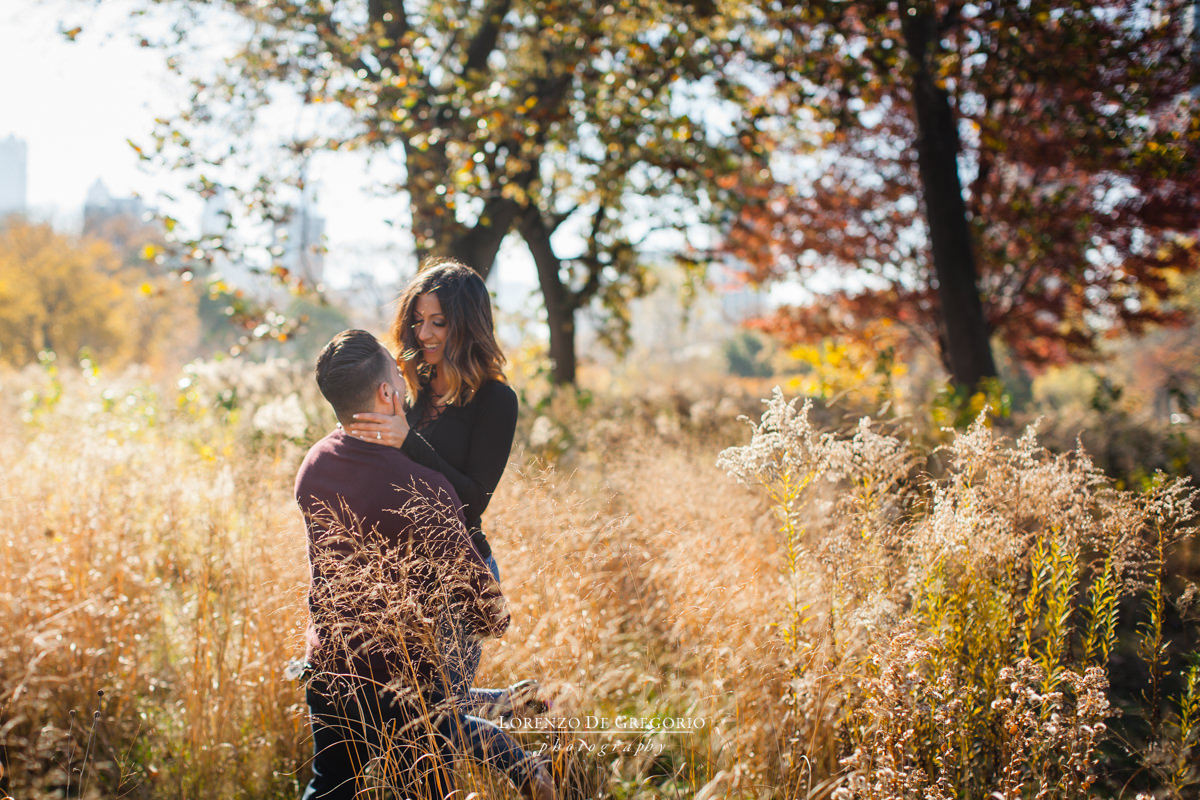 Lincoln park engagement session | Chicago fall engagement photos
