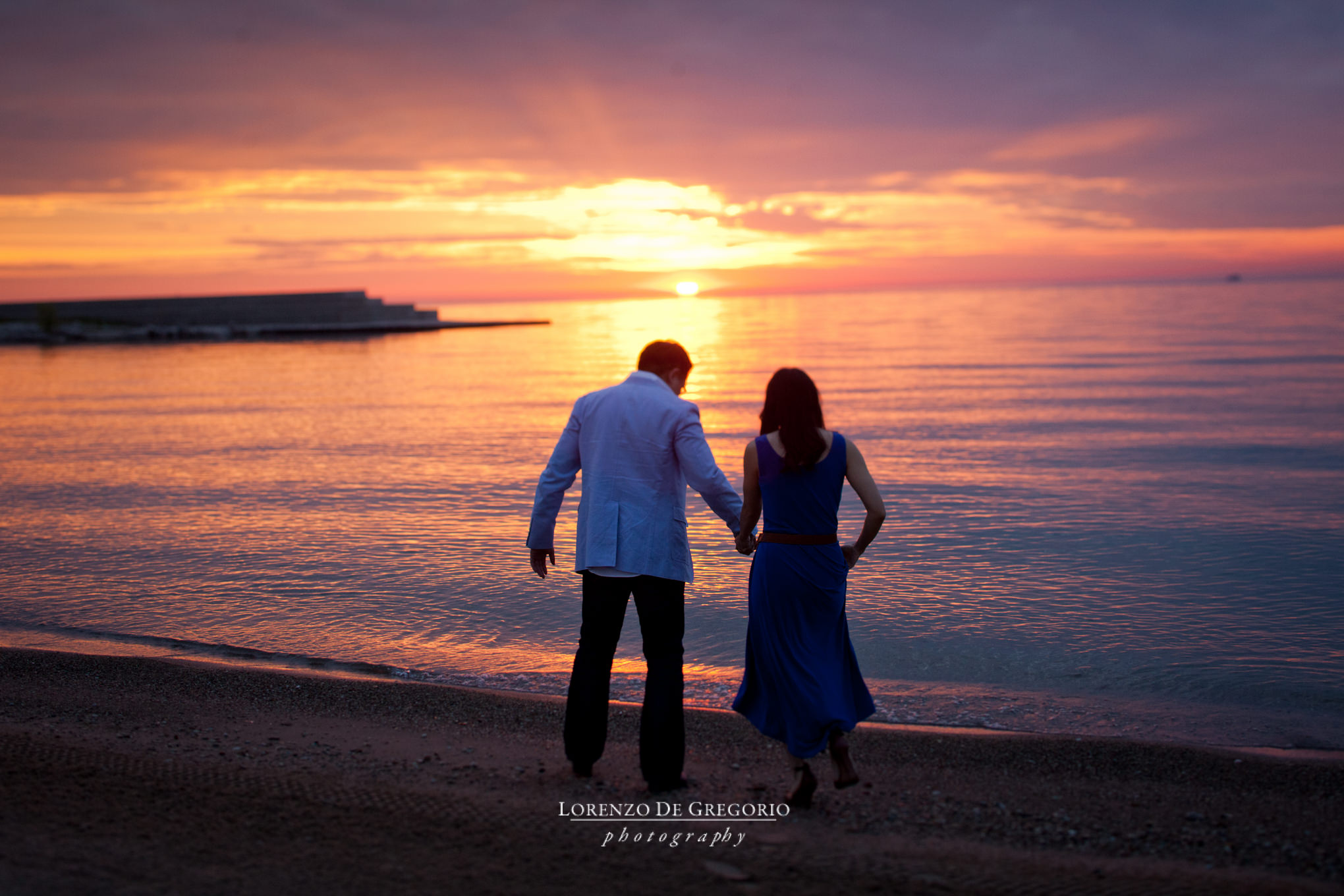Chicago Planetarium sunrise engagement pictures
