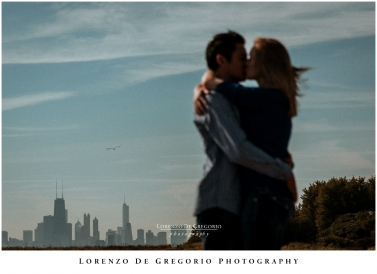 Sunrise engagement pictures Chicago Fullerton beach