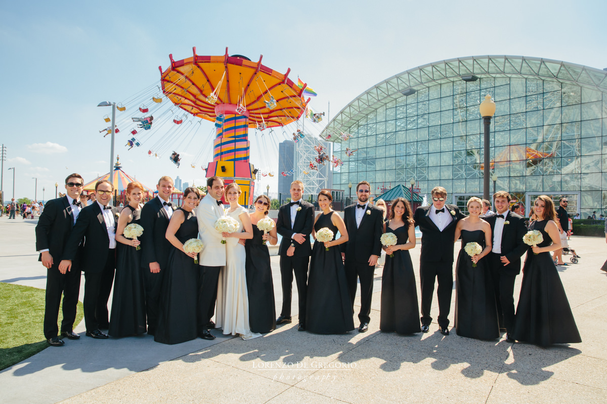 Chicago wedding pictures at Navy Pier
