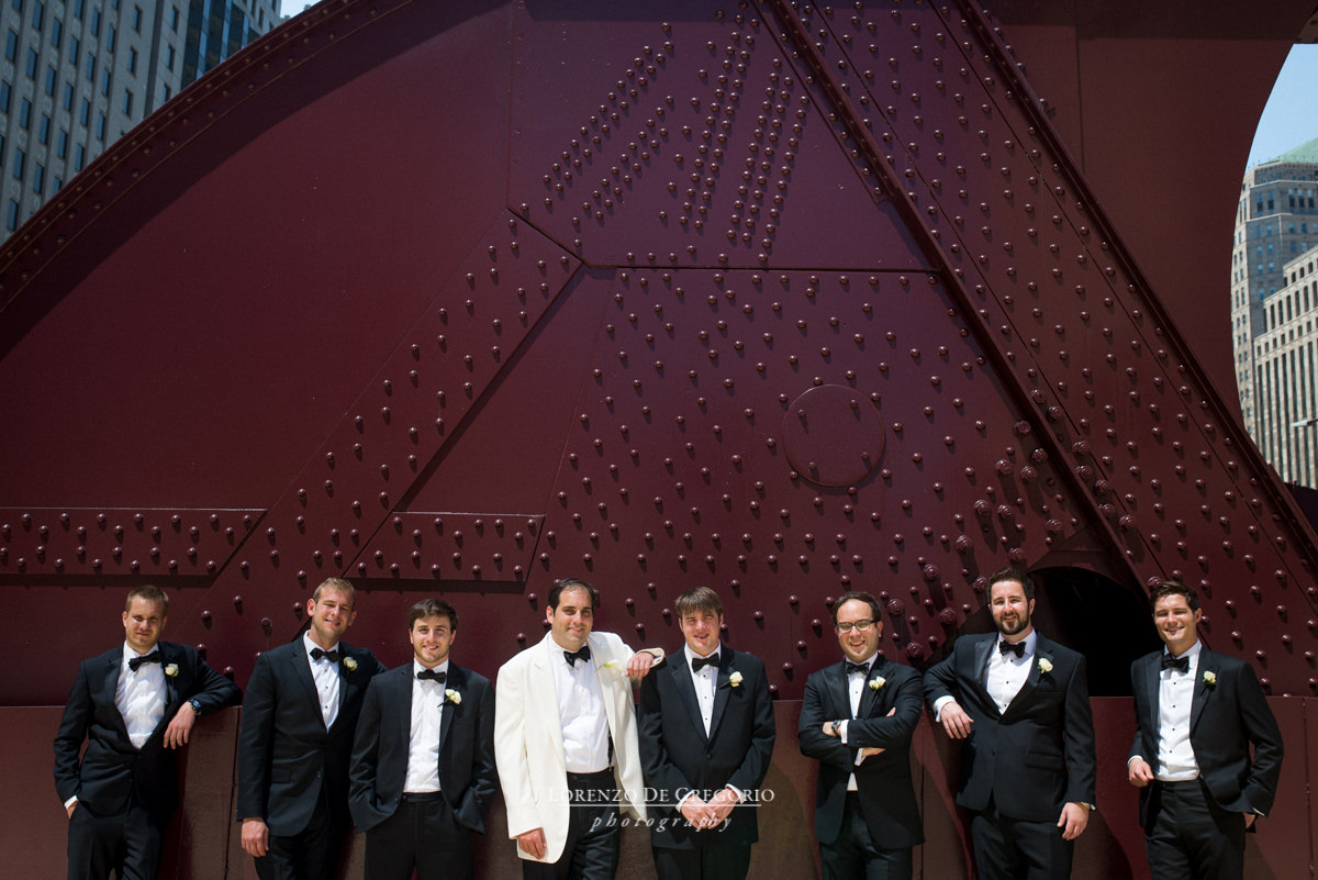 Groom party at Lasalle bridge