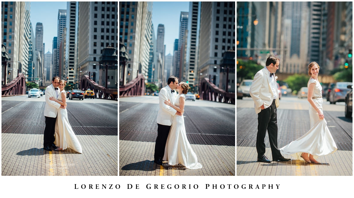 Chicago bride and groom portraits