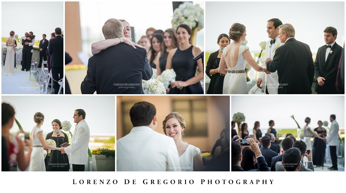Chicago wedding photographers at the W hotel Chicago Lakeshore