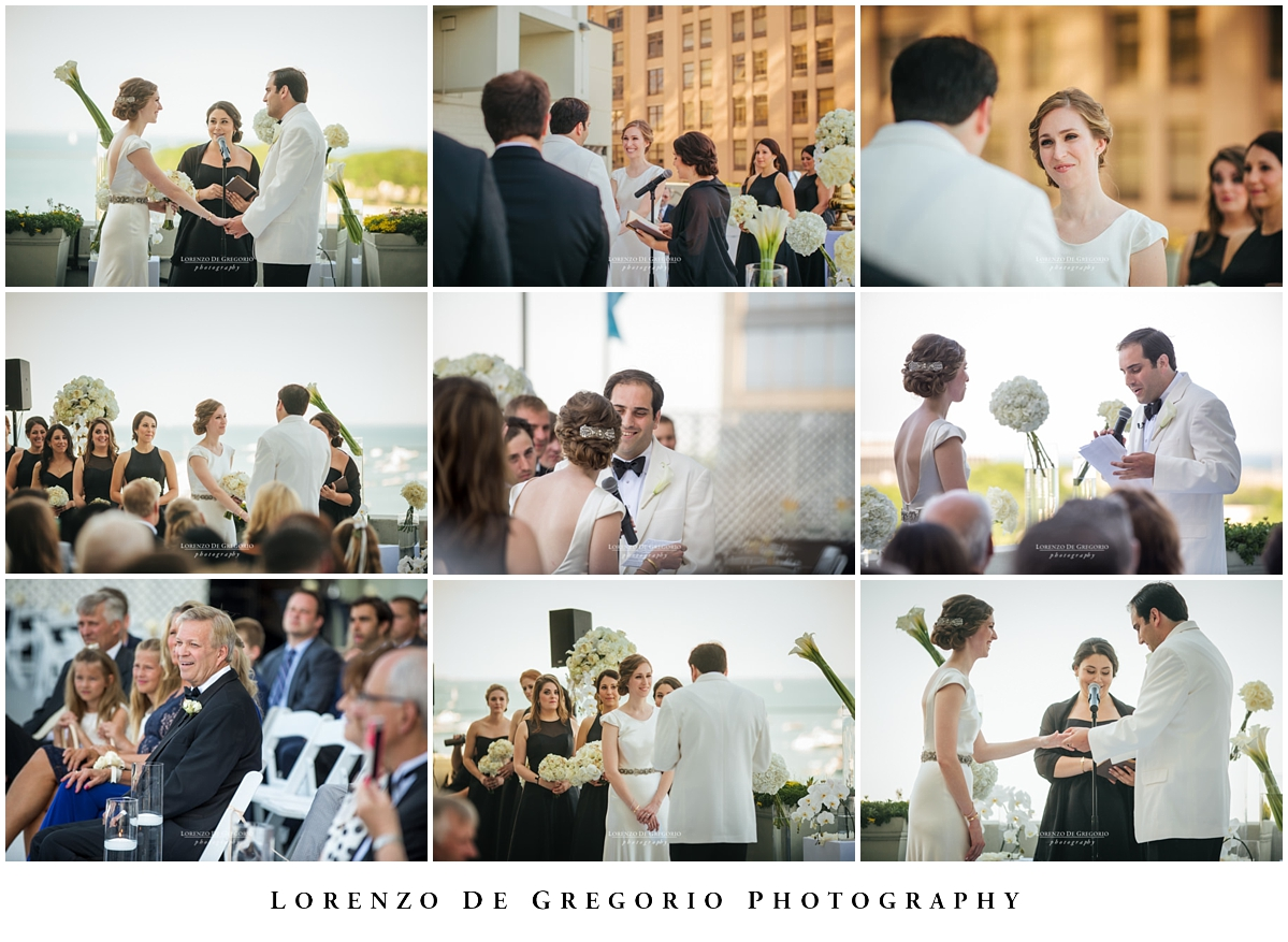 Chicago wedding outdoor ceremony at the W hotel Chicago Lakeshore