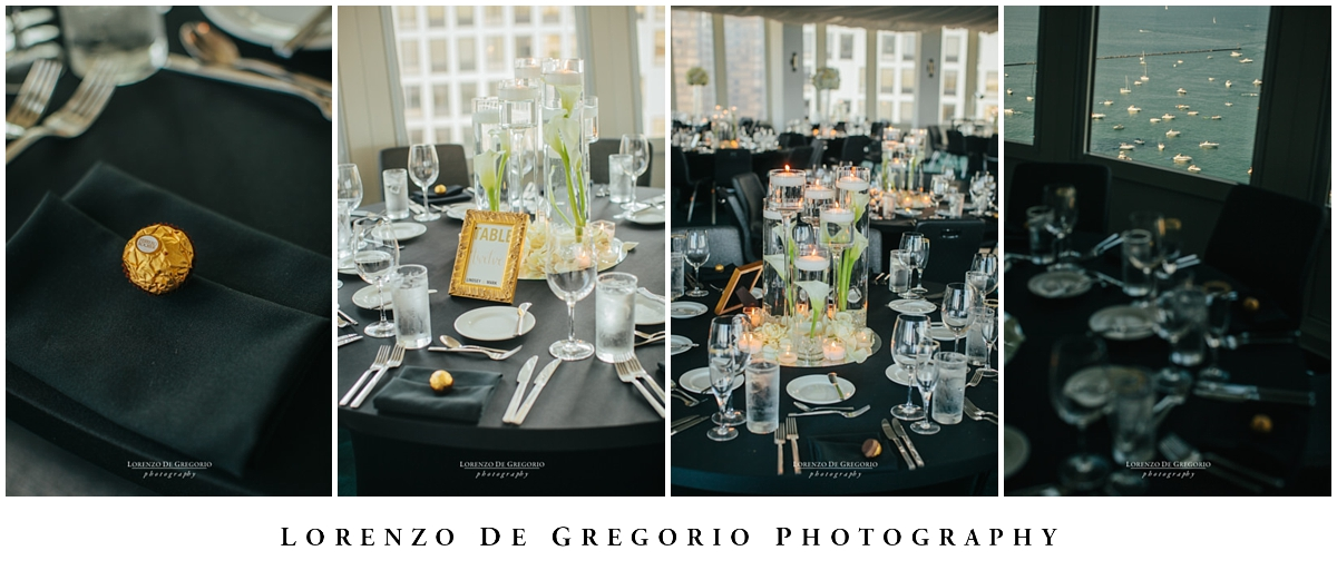 Wedding reception at the W hotel Chicago Lakeshore
