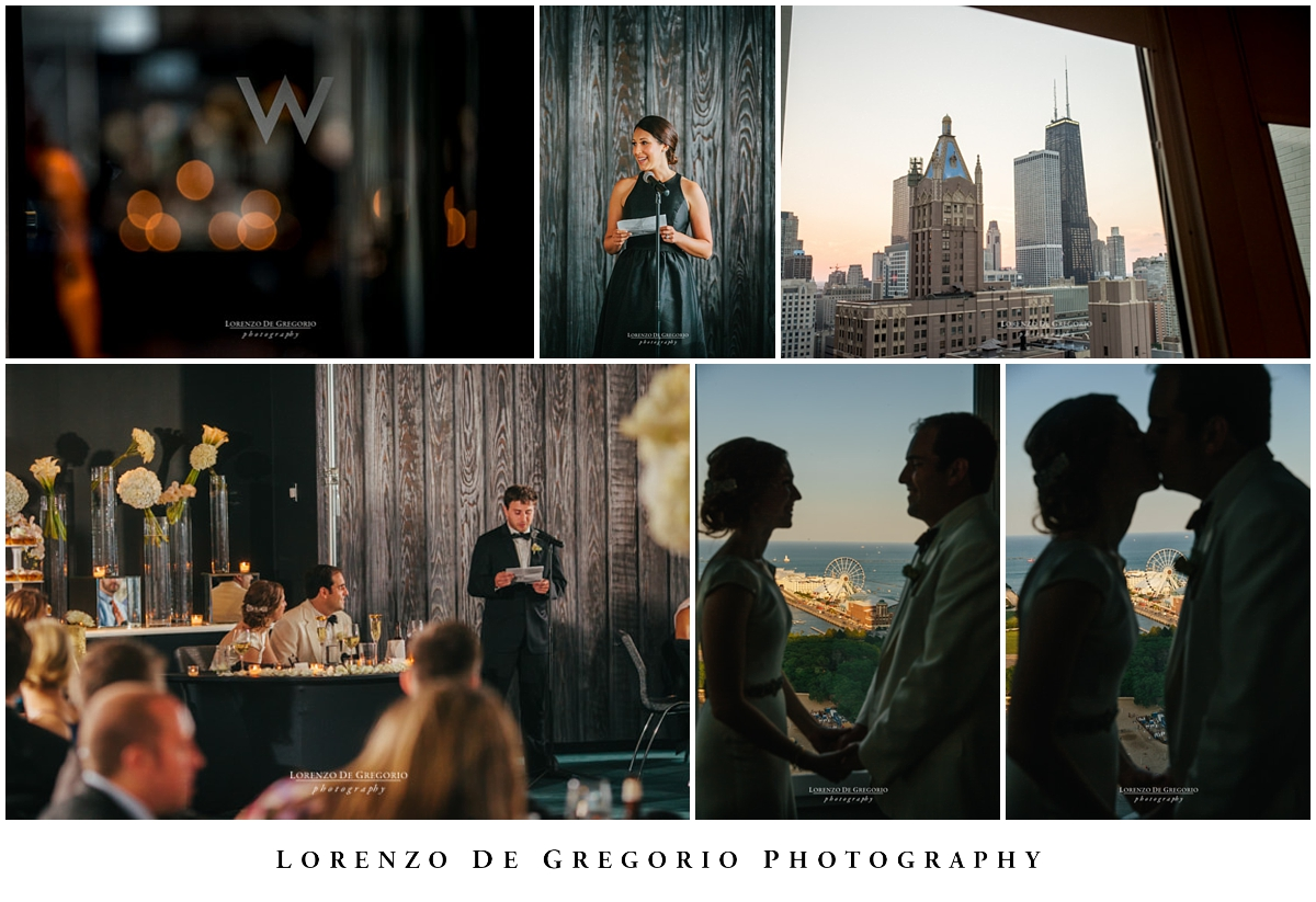 Chicago wedding photographer reception at the W hotel Chicago