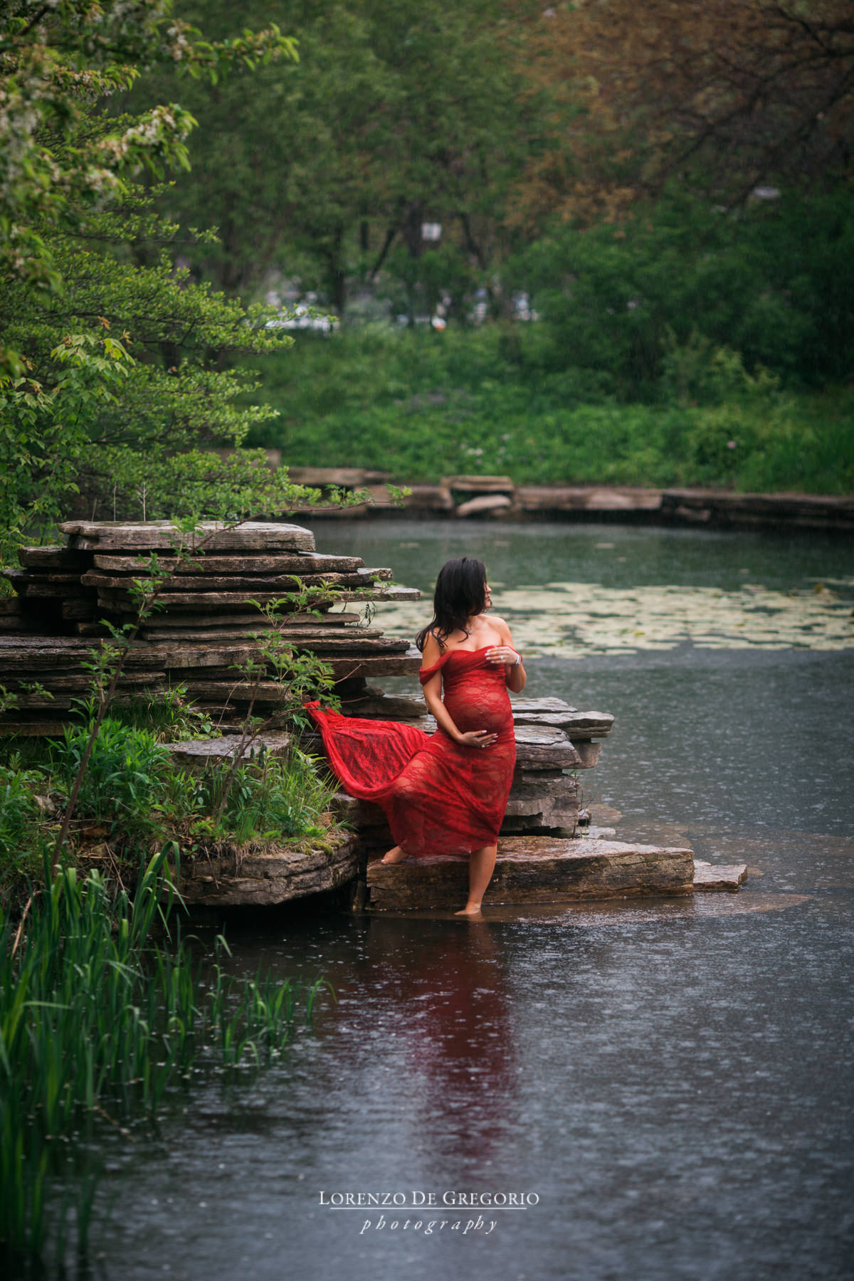 Chicago maternity pictures | Maternity photography Lily Pool