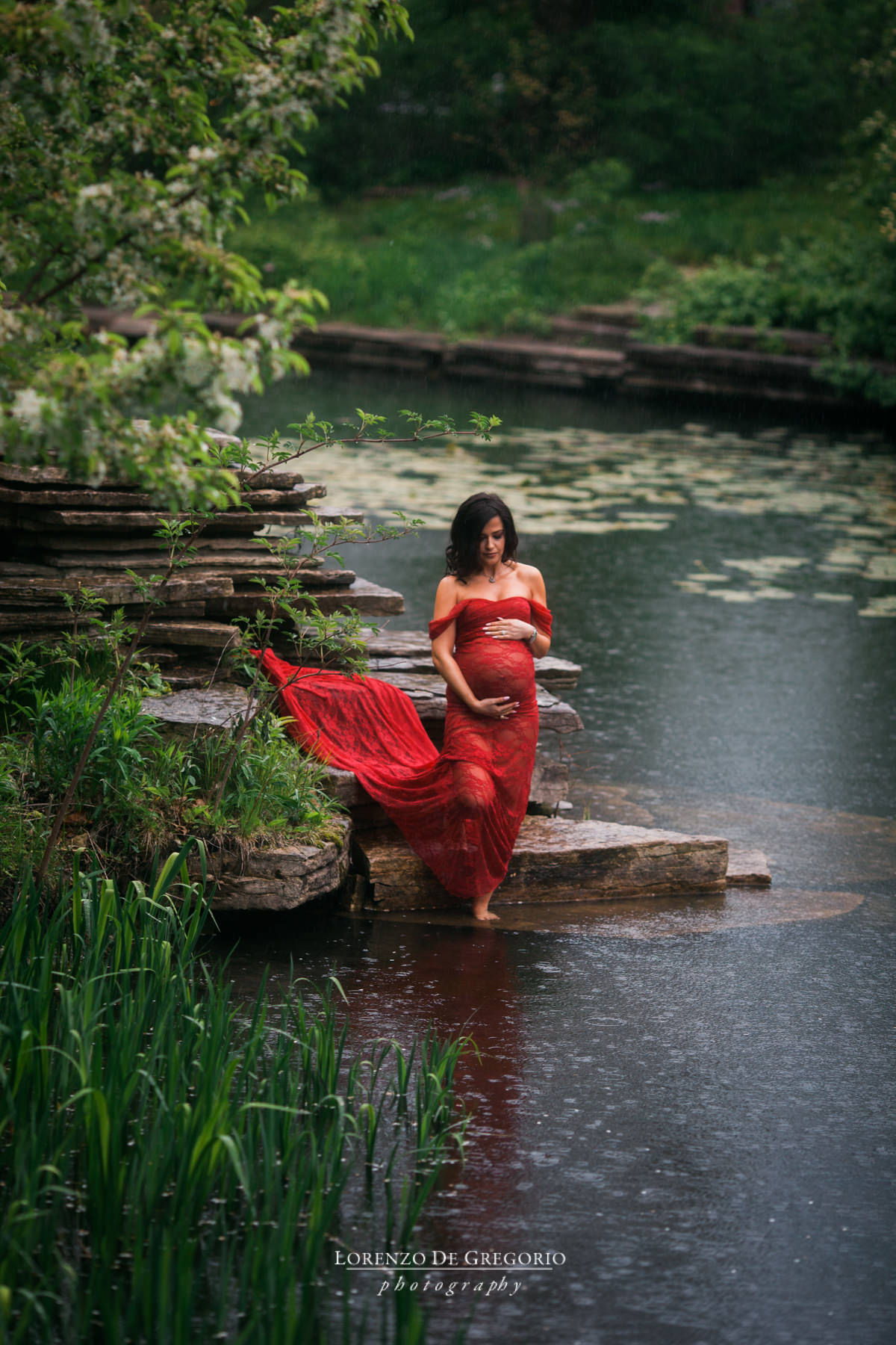 Chicago maternity pictures | Maternity photography Caldwell Lily Pool