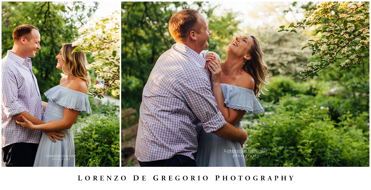 Engagement photos in Chicago at sunset in Lincoln Park | Engagement photographers