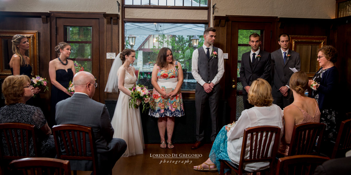 Wedding ceremony at the Redfield Estate