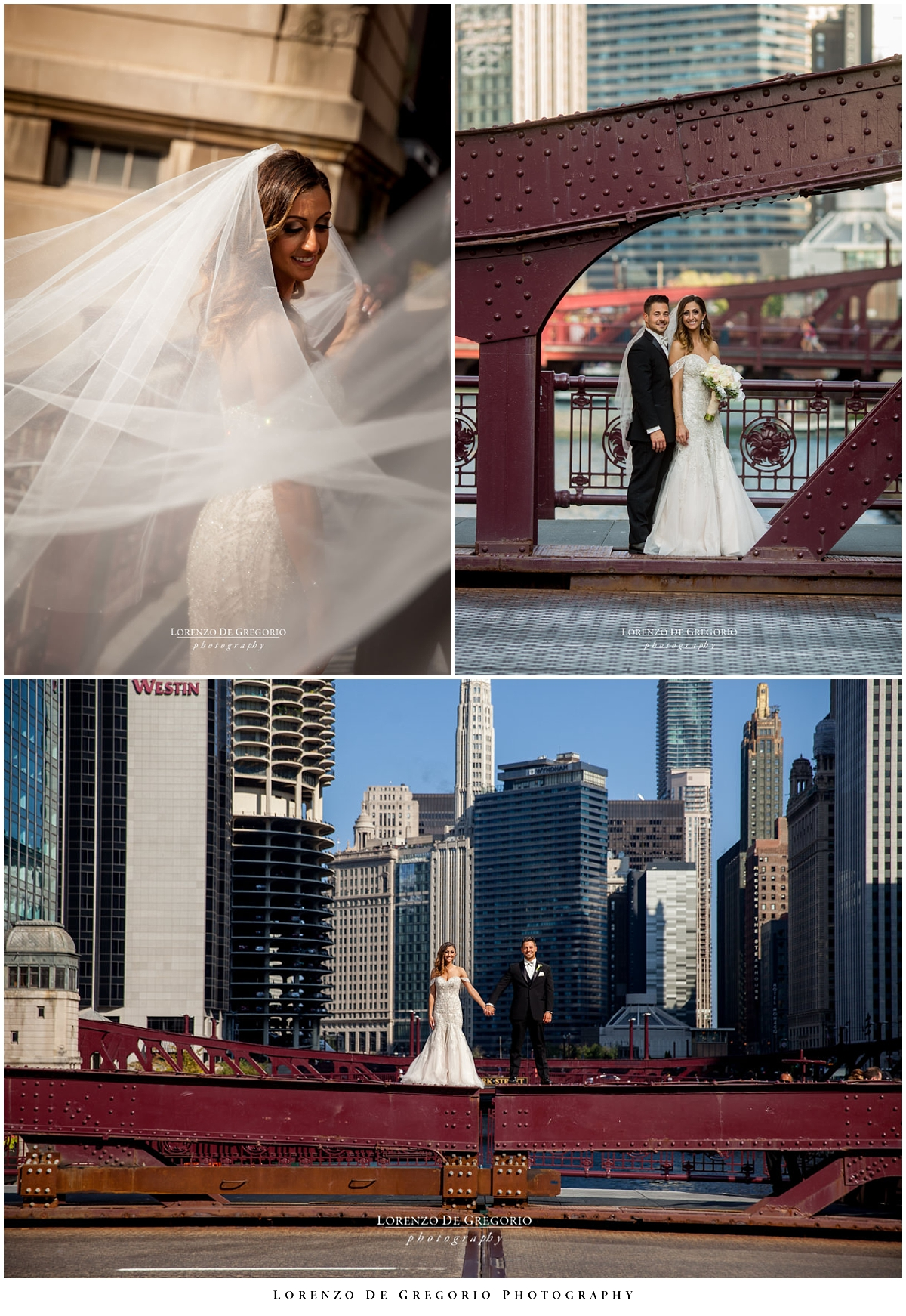 Lasalle bridge wedding pictures | Holy Name Cathedral wedding