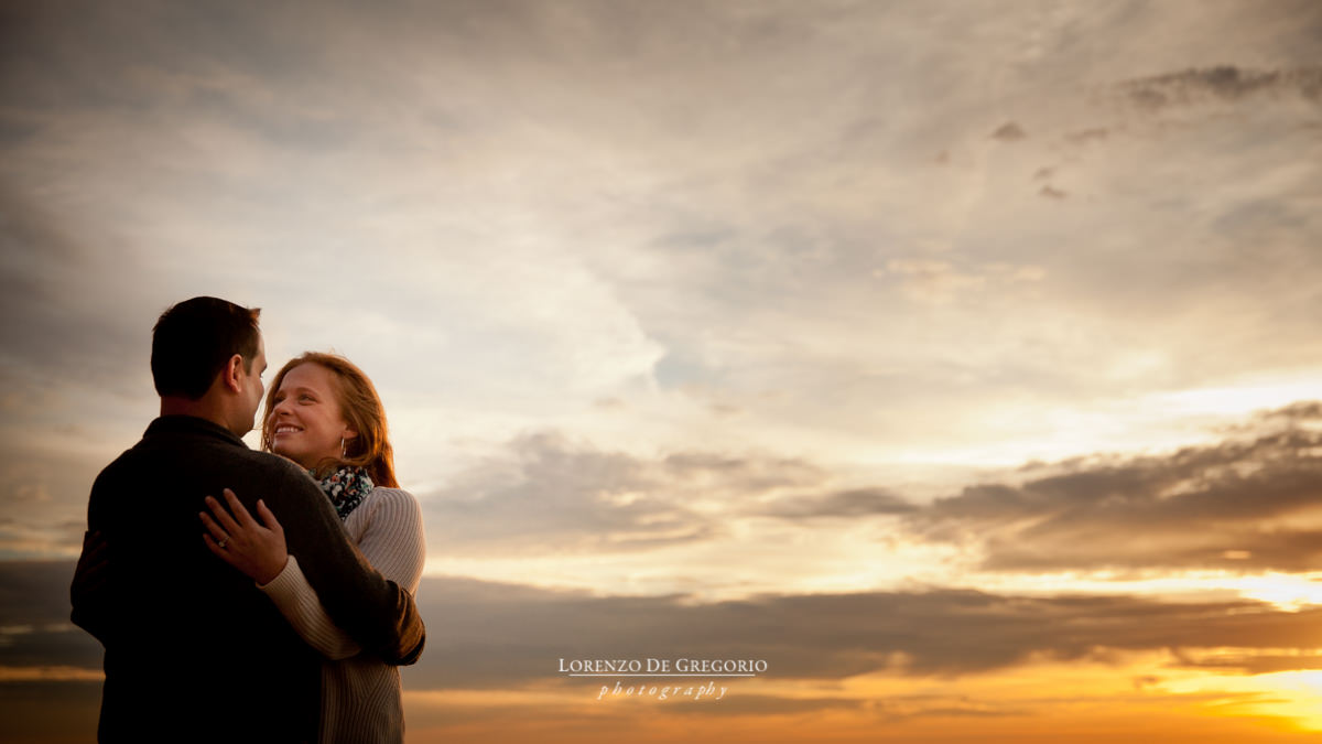 Chicago sunrise engagement pictures at Promontory Point | Chicago wedding photographer